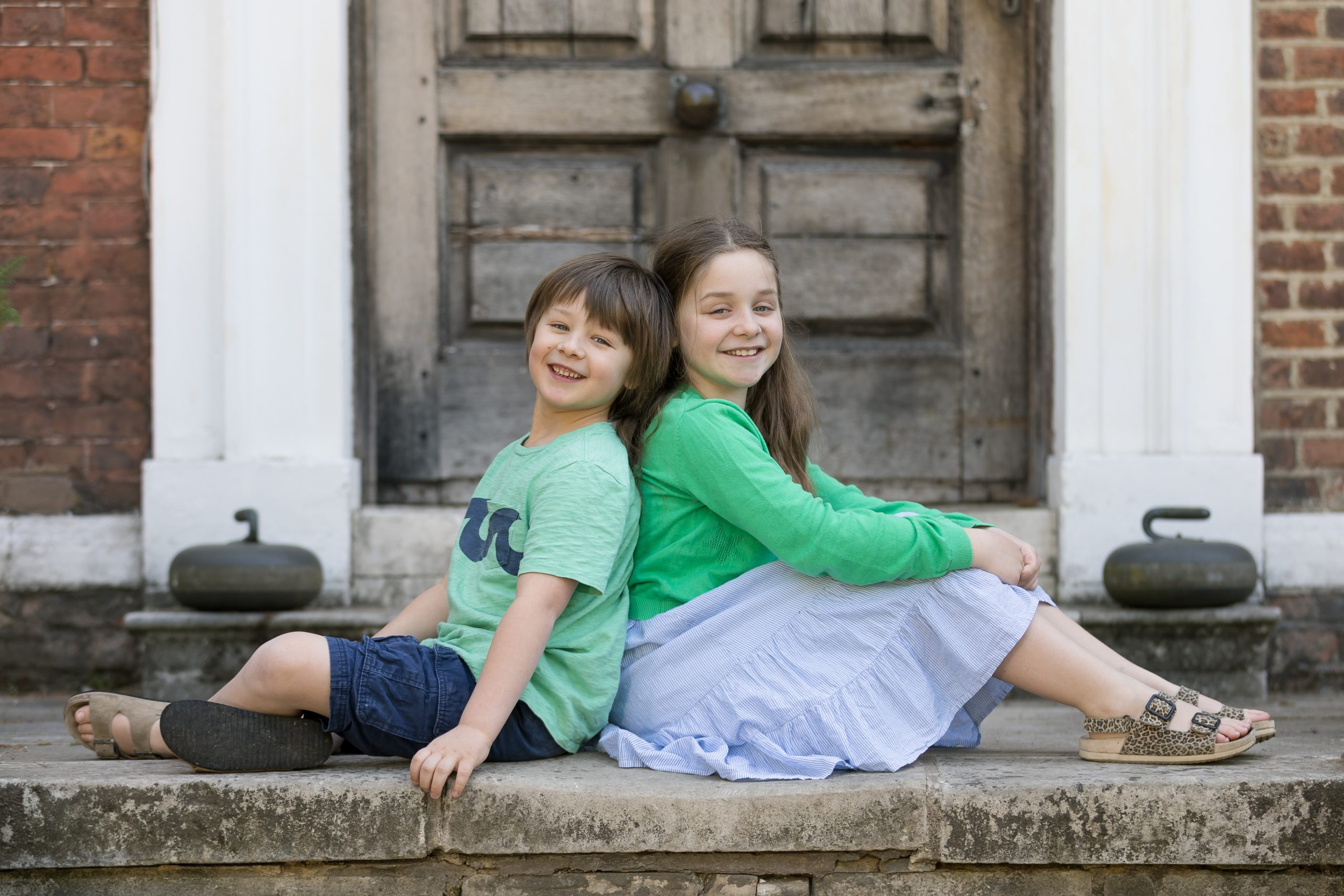 brother and sister family photography in London